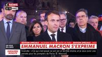 """Emmanuel Macron: """"Ua paleʻia ka meaʻoi loa (...) kēia halepule, e kūkulu hou mākou"""""""